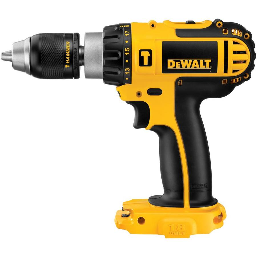 DEWALT 1/2-in 18-Volt-Volt Nickel Cadmium (Nicd) Variable Speed Cordless Hammer Drill Bare Tool Only (Tool Only, Battery)