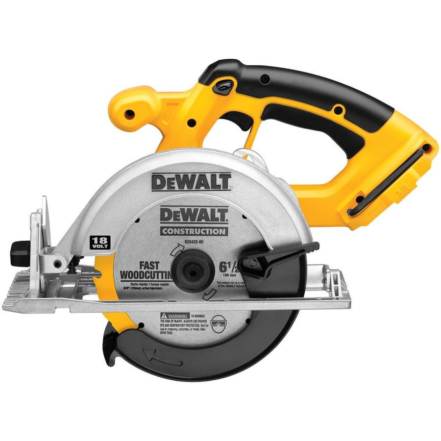 DEWALT 18-Volt 6-1/2-in Cordless Circular Saw (Bare Tool Only)