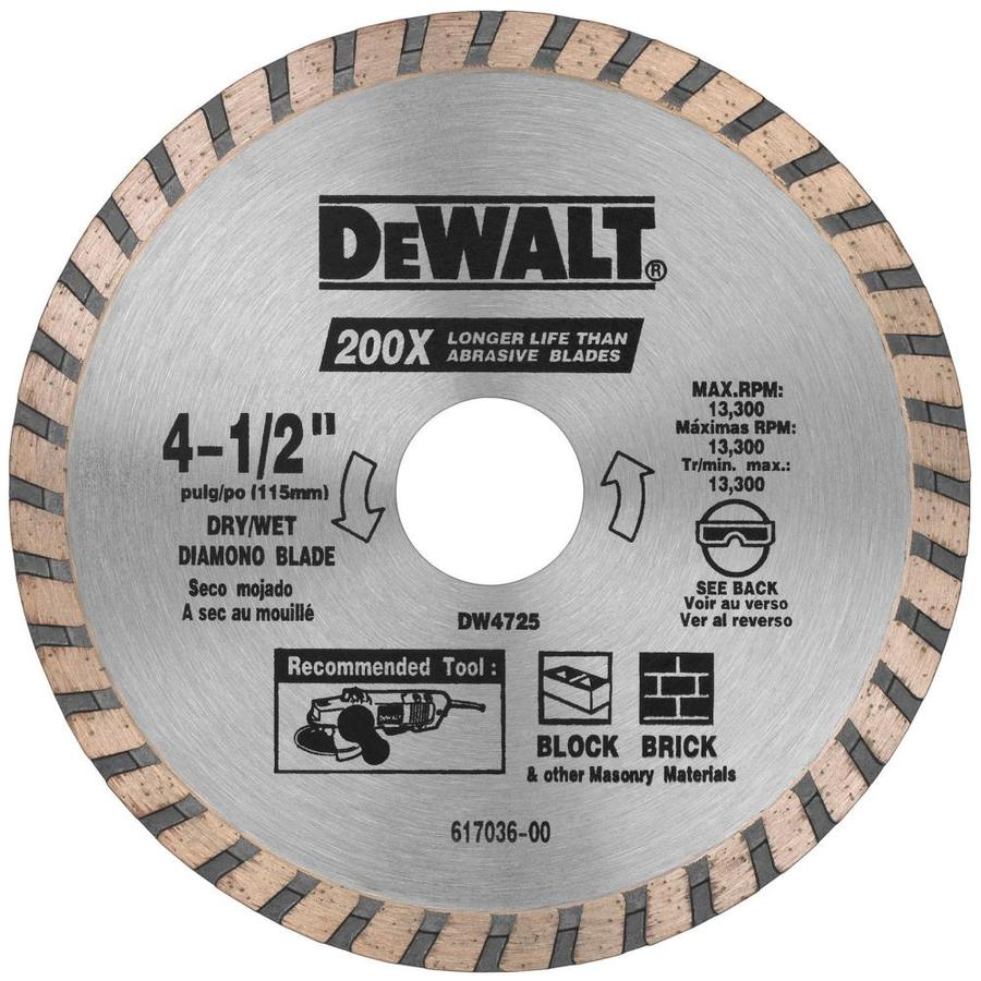 DEWALT 3-Pack 4-1/2-in 0-Tooth Wet or Dry Continuous Diamond Circular Saw Blade