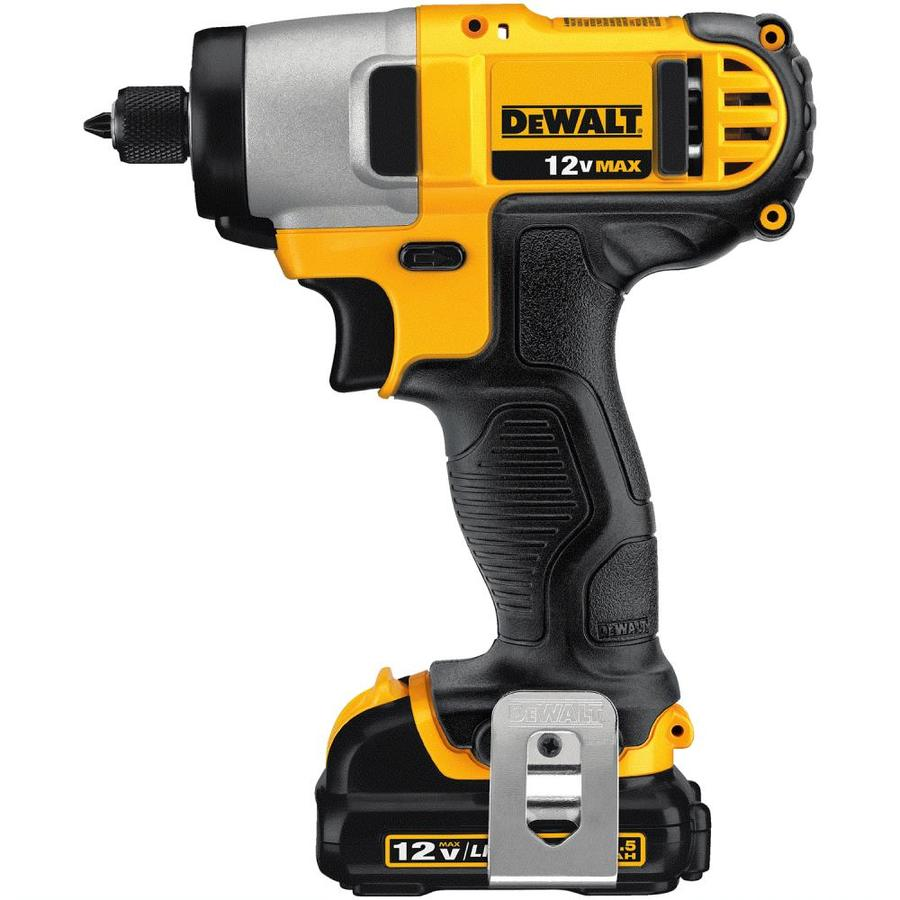 DEWALT 12-Volt Max Lithium Ion (Li-ion) 1/4-in Cordless Variable Speed Impact Driver with Soft Case