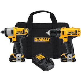 DEWALT 2-Tool 12-Volt Max Power Tool Combo Kit with Soft Case (Charger Included and 2-Batteries Included)