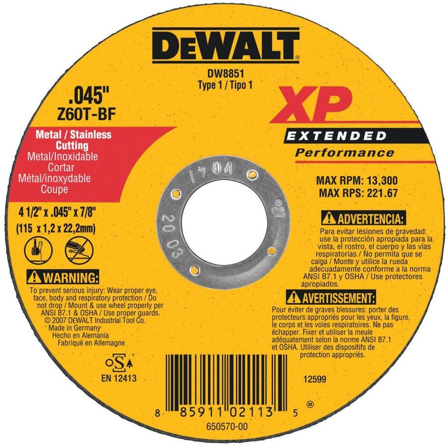 DEWALT XP Aluminum Oxide 4.5-in 60-Grit Grinding Wheel