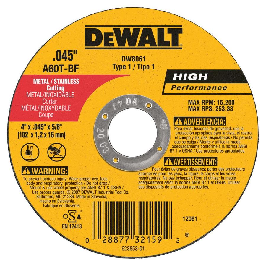 DEWALT 5-Pack Aluminum Oxide 4-in Grinding Wheel