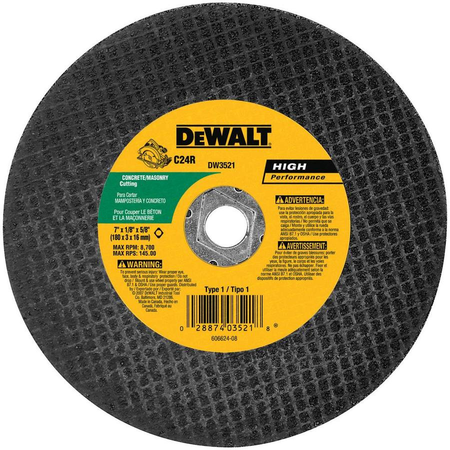 DEWALT 5-Pack 7-in Dry Turbo Carbide Circular Saw Blade