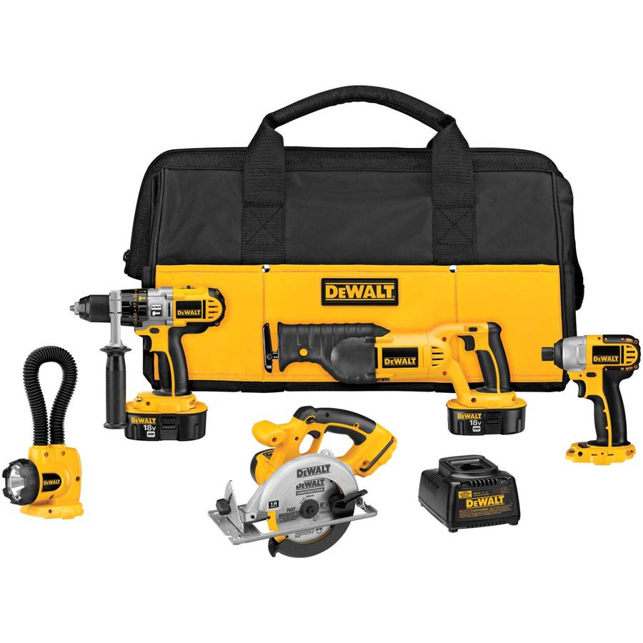 Shop Dewalt 5 Tool 18 Volt Nickel Cadmium Nicd Power