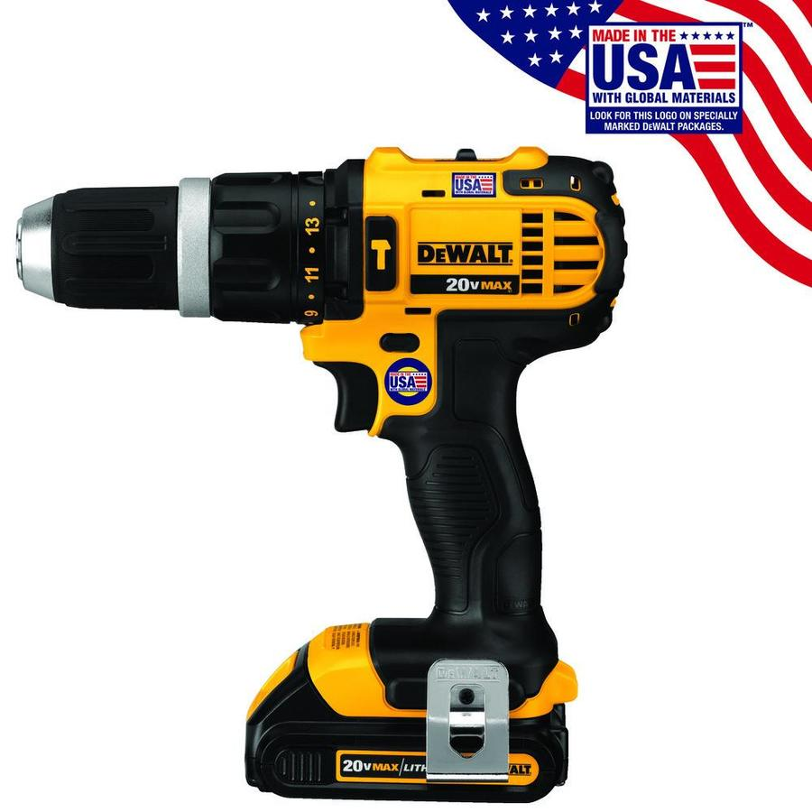 DEWALT 1/2-in 20-Volt Max Lithium Ion Variable Speed Cordless Hammer Drill