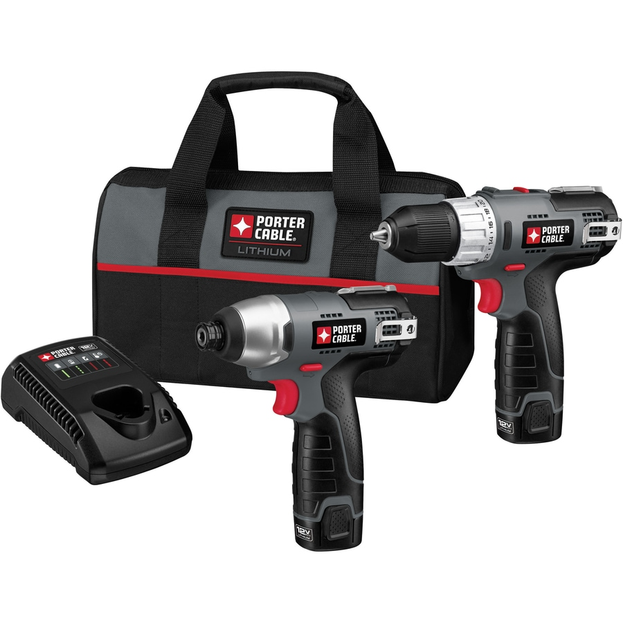 PORTER-CABLE 2-Tool 12-Volt Max Lithium Ion (Li-ion) Brushed Motor Cordless Combo Kit with Soft Case