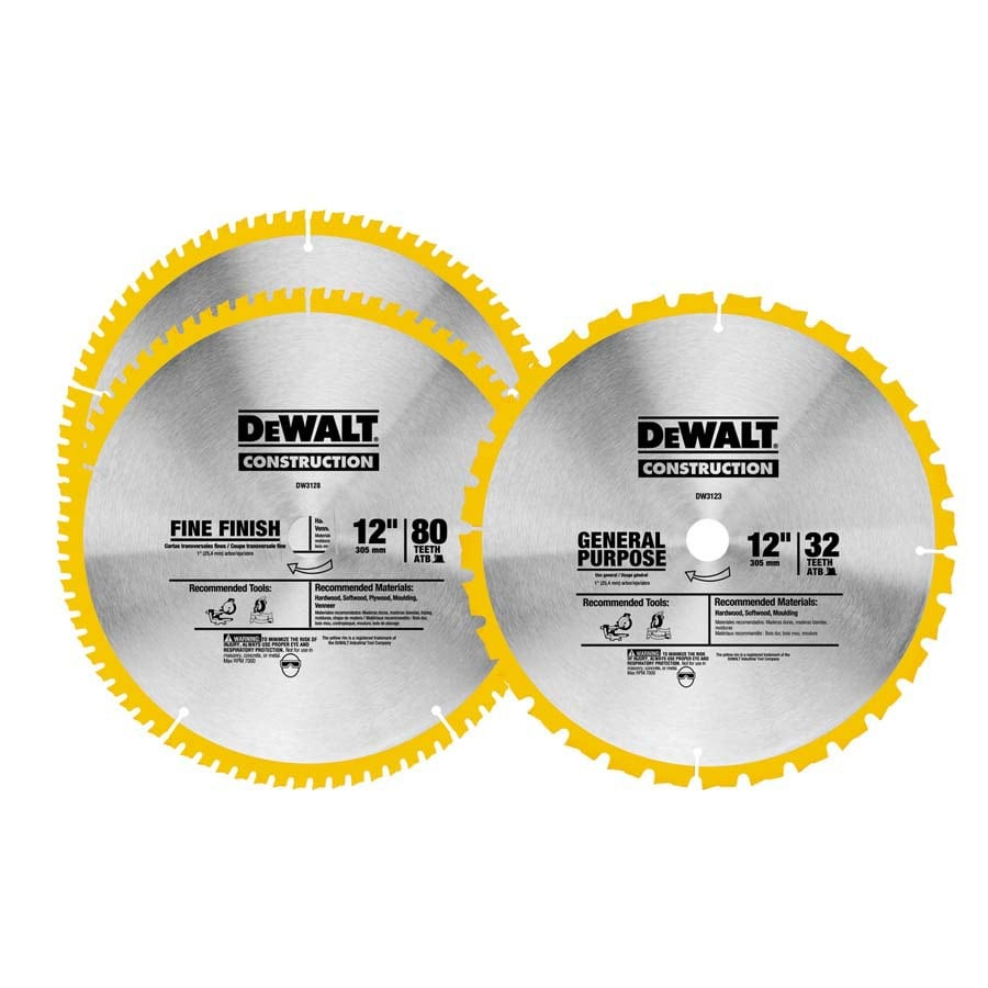 DEWALT 3-Pack 12-in Circular Saw Blade Set