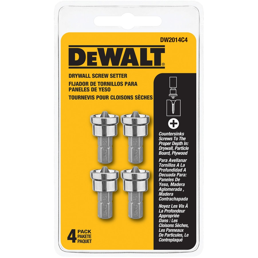 DEWALT 4-Piece Screwdriver Bit Set