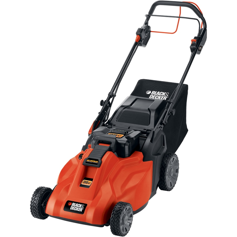 BLACK & DECKER 36-Volt Nickel Cadmium (NiCd) 19-in Deck Width Cordless Electric Self-Propelled Push Lawn Mower with 1 Battery
