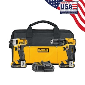 DEWALT 2-Tool 20-Volt Max Power Tool Combo Kit with Soft Case (Charger Included and 2-Batteries Included)