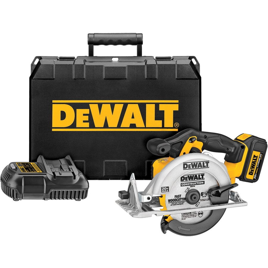 DEWALT 20-Volt 6-1/2-in Cordless Circular Saw with Brake