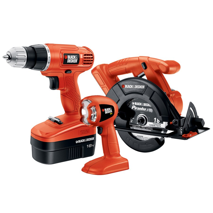 BLACK & DECKER 3-Tool Nickel Cadmium (Nicd) Brushed Motor Cordless Combo Kit