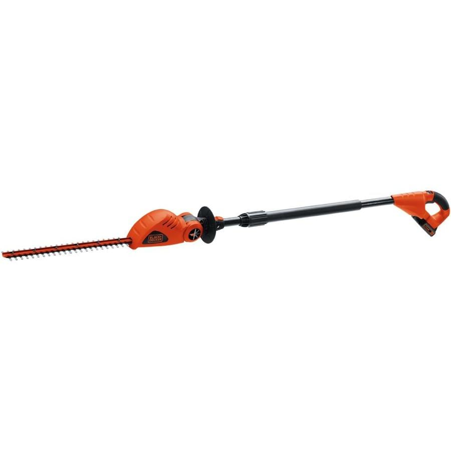 BLACK & DECKER 20-Volt Max 18-in Dual Cordless Pole Hedge Trimmer (Battery Included)