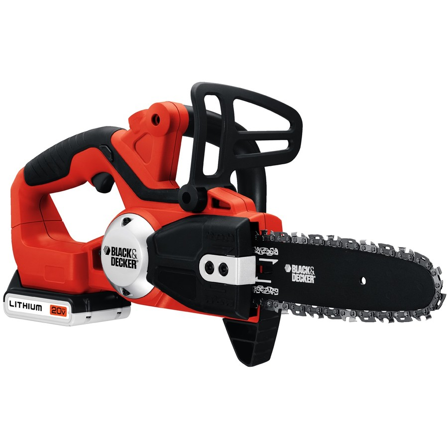 BLACK & DECKER 20-Volt Max Lithium Ion (Li-ion) 8-in Cordless Electric Chainsaw (Battery Included)