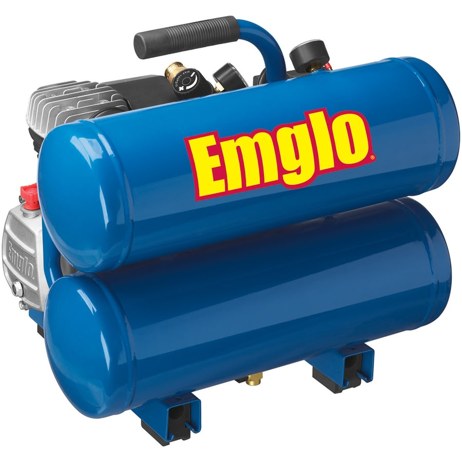 Emglo 4-Gallon Portable 125-PSI Electric Twin Stack Air Compressor