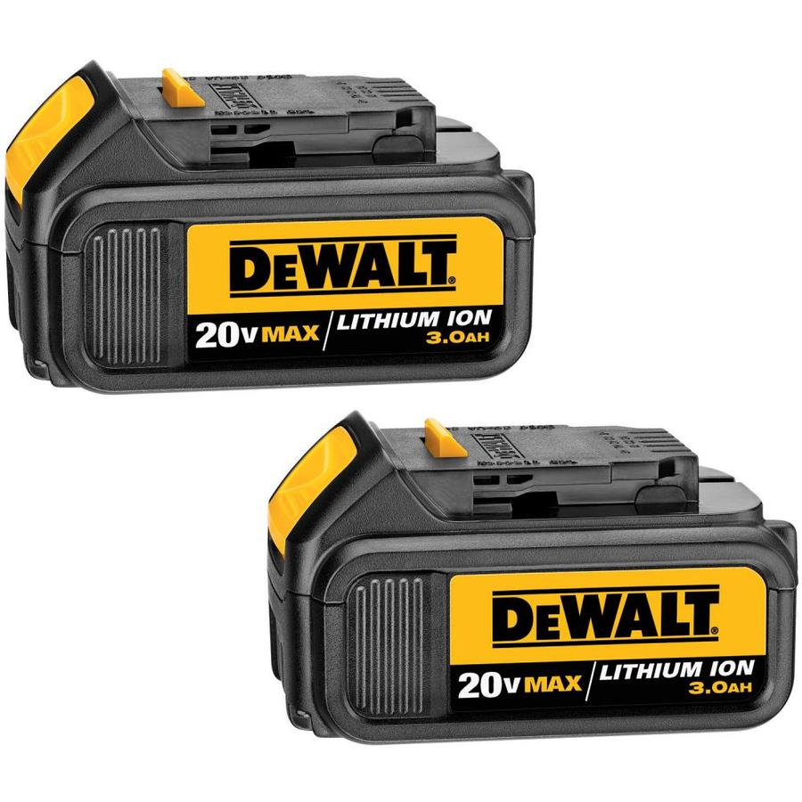 DEWALT 2-Pack 20-Volt Max 3-Amp-Hours Lithium Power Tool Battery Kit