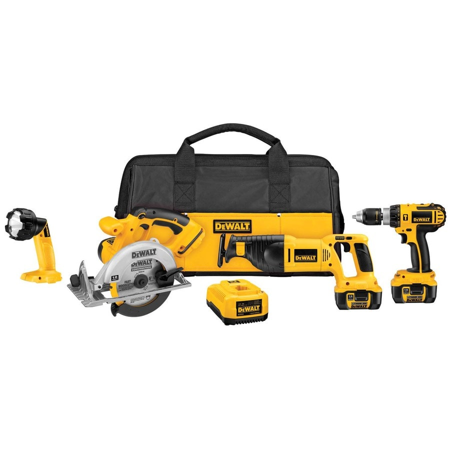 DEWALT 4-Tool 18-Volt Cordless Combo Kit with Case