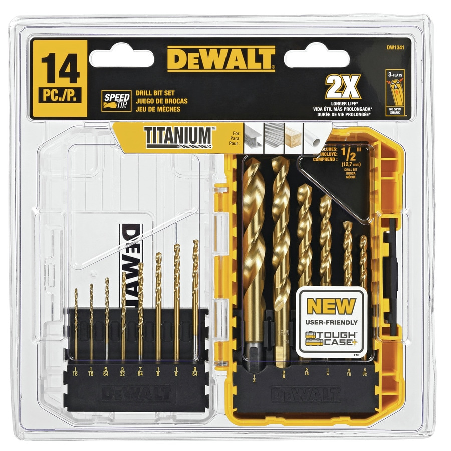 DEWALT 14-Pack Titanium Twist Drill Bit Set