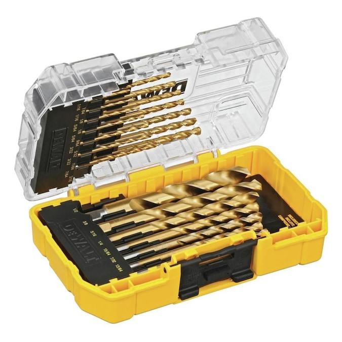 Dewalt 21 Pack Assorted Titanium Right Handed Twist Drill Bit Set In The Twist Drill Bits Department At Lowes Com