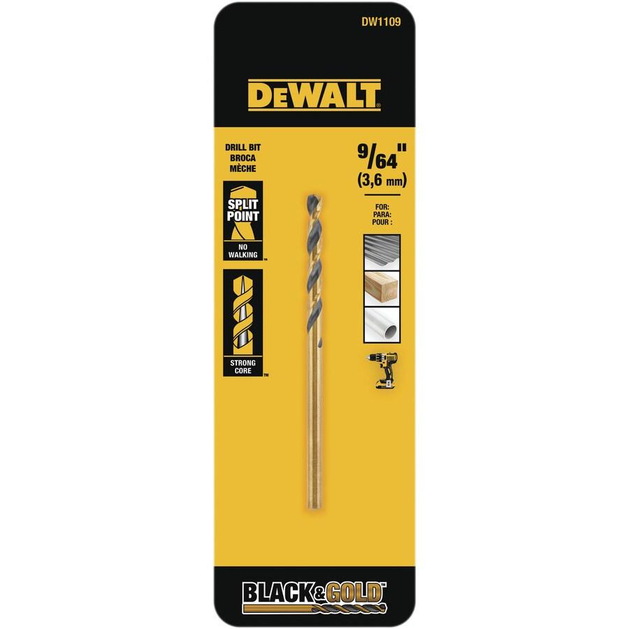 DEWALT 9/64-in Black Oxide Twist Drill Bit
