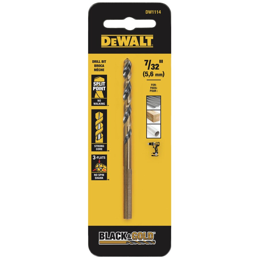 DEWALT 7/32-in Black Oxide Twist Drill Bit