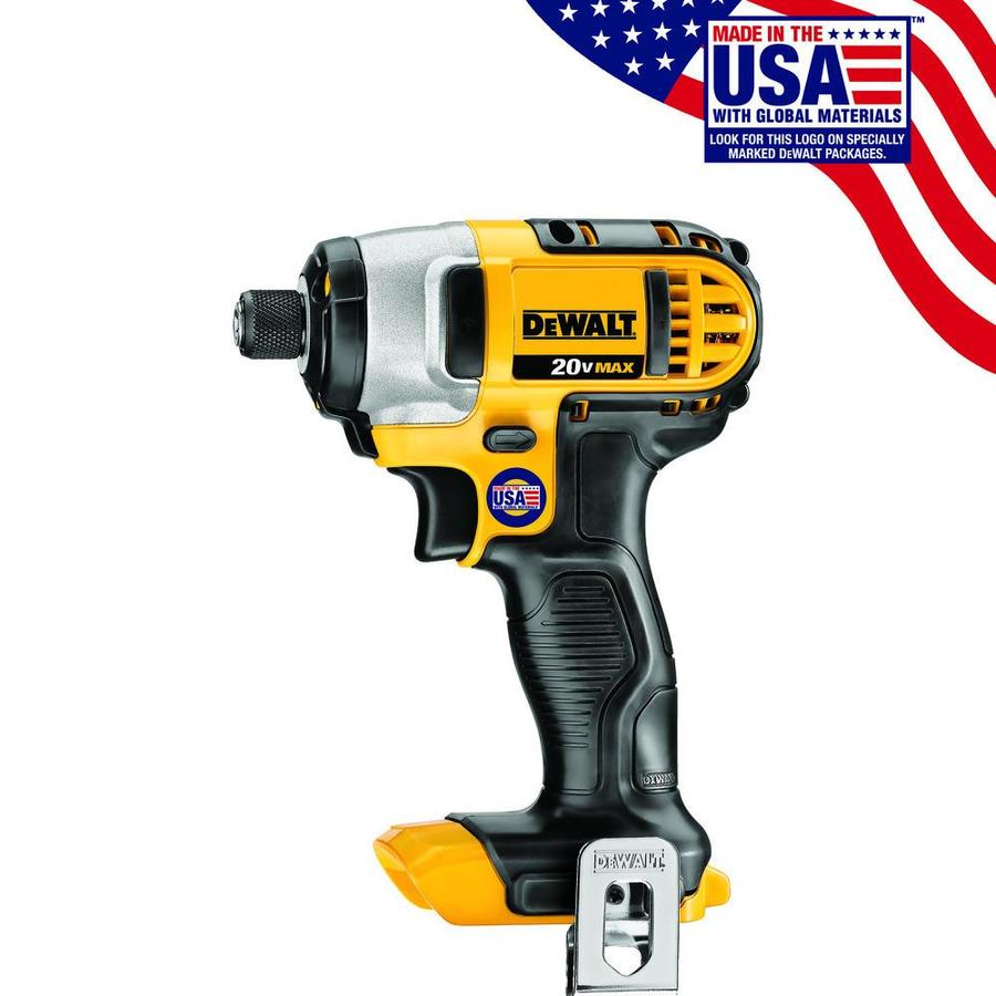 DEWALT 20-Volt Max Lithium Ion (Li-ion) 1/4-in Cordless Variable Speed Impact Driver