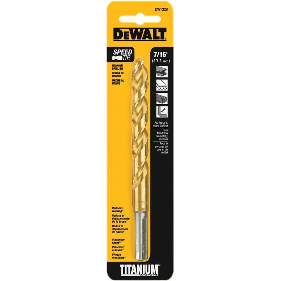 DEWALT 7/16-in Titanium Twist Drill Bit