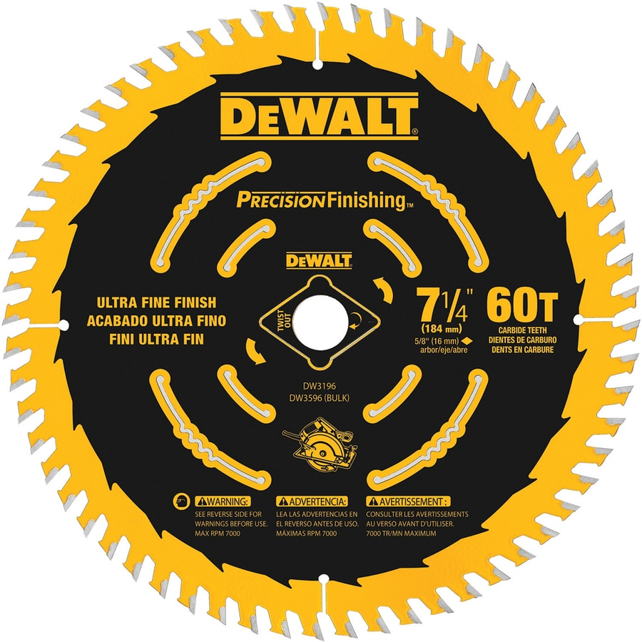 Shop circular saw blades sets at lowes dewalt precision trim 60 tooth carbide circular saw blade greentooth Image collections