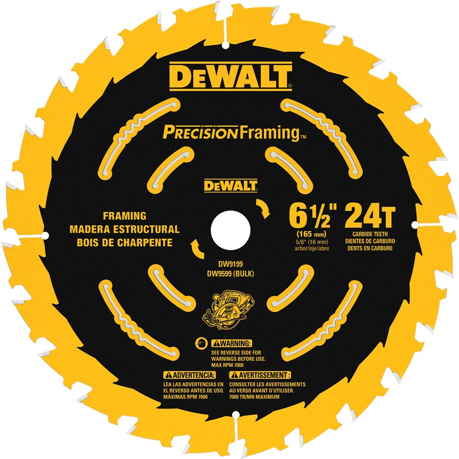 DEWALT Precision Trim 6-1/2-in 24-Tooth Standard Carbide Circular Saw Blade