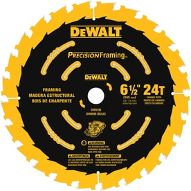 DEWALT Precision Trim 6-1/2-in 24-Tooth Tungsten Carbide-Tipped Steel Circular Saw Blade
