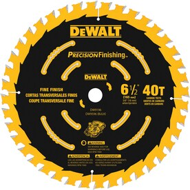DEWALT Precision Trim 6-1/2-in 40-Tooth Carbide Circular Saw Blade
