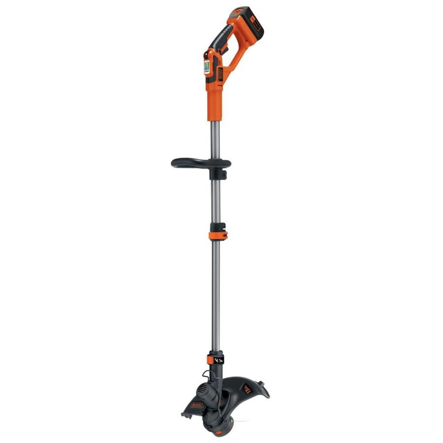 BLACK & DECKER 40-Volt Max 13-in Straight Cordless String Trimmer and Edger (Battery Included)
