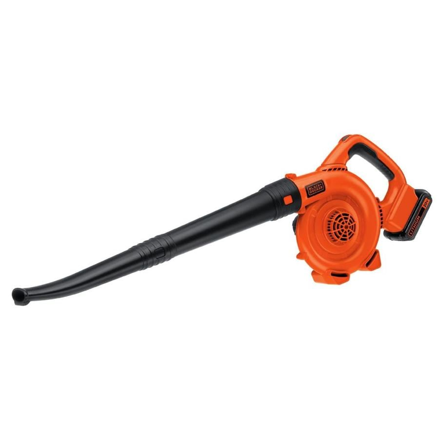 BLACK & DECKER 20-volt Max Lithium Ion 120-CFM 120-MPH Sweeper Cordless Electric Leaf Blower (Battery Included)