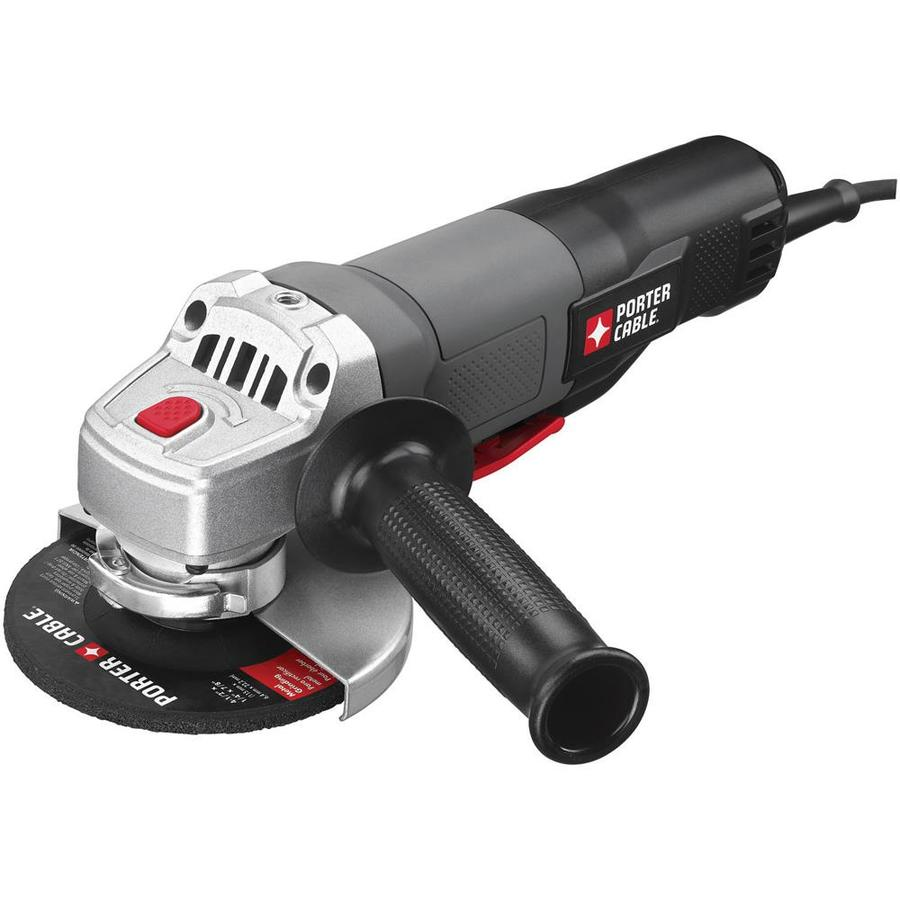 Angle Grinder Uses ~ Shop porter cable in amp paddle switch corded