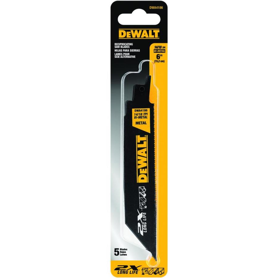 DEWALT 5-Pack 6-in 14/18-TPI Bi-Metal Reciprocating Saw Blade Sets