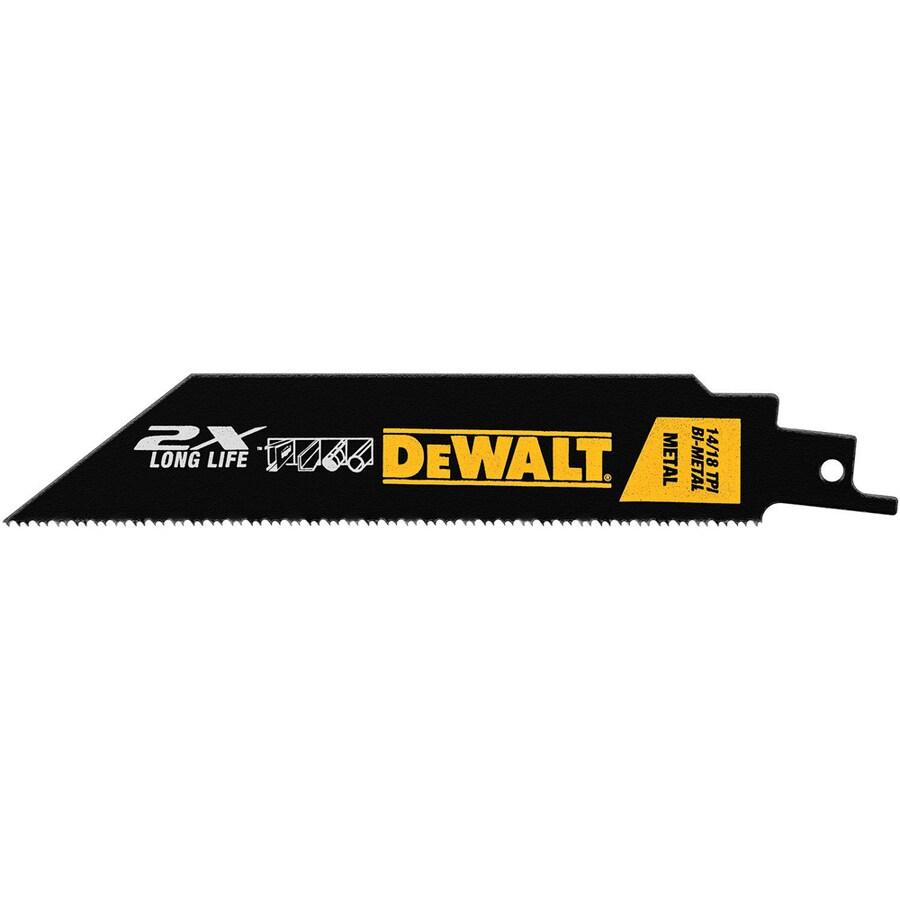 DEWALT 12-in 14/18-TPI Bi-Metal Reciprocating Saw Blade