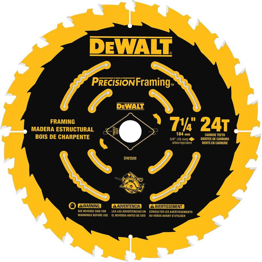 DEWALT Precision Trim 7-1/4-in 24-Tooth Standard Carbide Circular Saw Blade