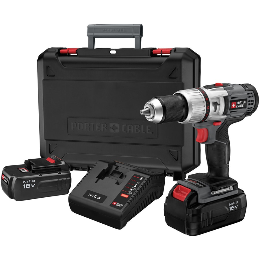 PORTER-CABLE 1/2-in 18-Volt Nickel Cadmium (Nicd) Variable Speed Cordless Hammer Drill