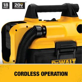 Shop Dewalt 2 Gallon 1 85 Peak Hp Shop Vacuum At Lowes Com