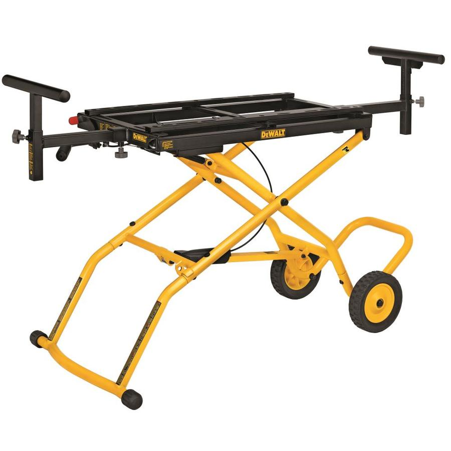 Shop Dewalt Rolling Universal Miter Saw Stand At Lowes Com