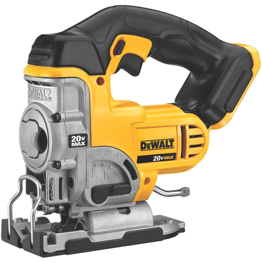 Shop jigsaws at lowes dewalt 20 volt max variable speed keyless cordless jigsaw bare tool greentooth