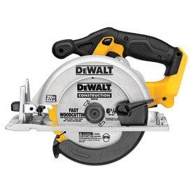 DEWALT 20-Volt Max 6-1/2-in Cordless Circular Saw with Brake and Magnesium Shoe (Bare Tool Only)