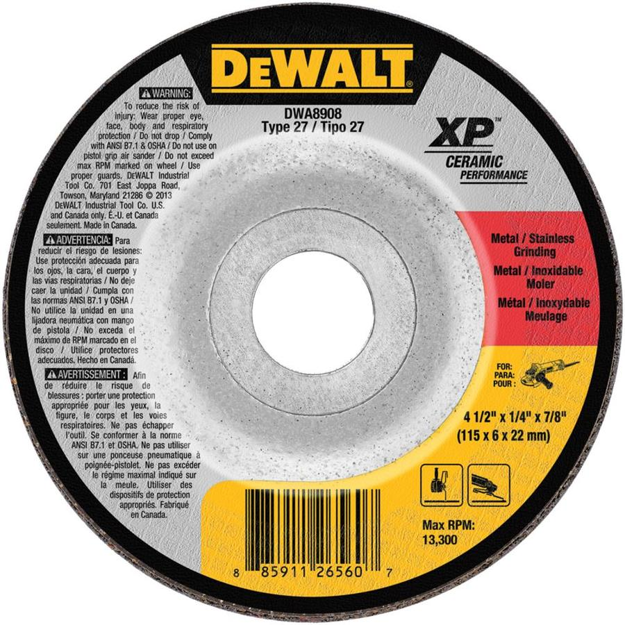 DEWALT XP Ceramic 4.5-in Grinding Wheel
