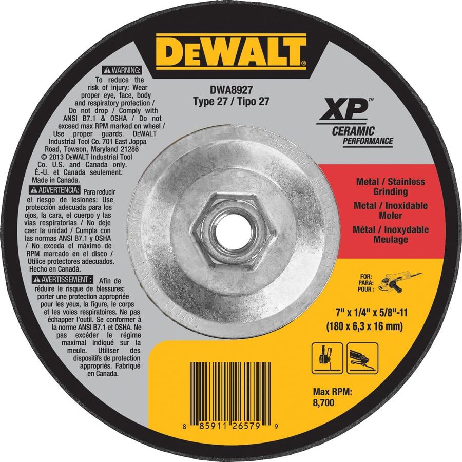 DEWALT Aluminum Oxide Grinding Wheel