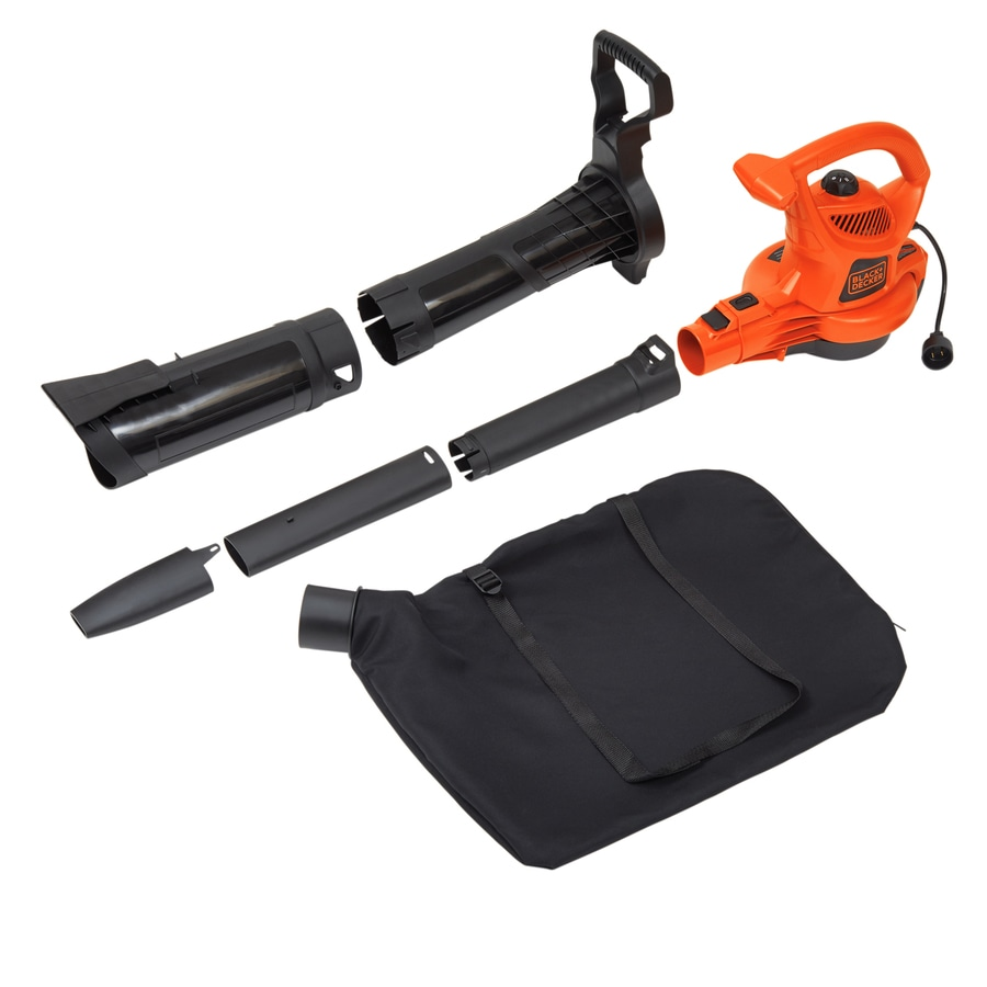 BLACK & DECKER 12-Amp 385-CFM 230-MPH Medium-Duty Corded Electric Leaf Blower