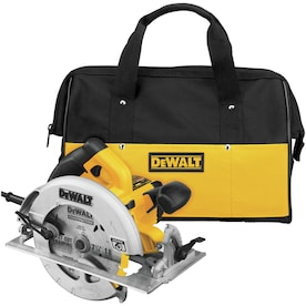 DEWALT 7-1/4-in Corded Circular Saw with Brake Aluminum Shoe and Soft Case