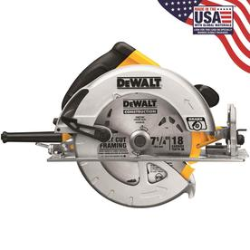 DEWALT 7-1/4-in 15-Amp Corded Circular Saw with Brake Aluminum Shoe and Soft Case