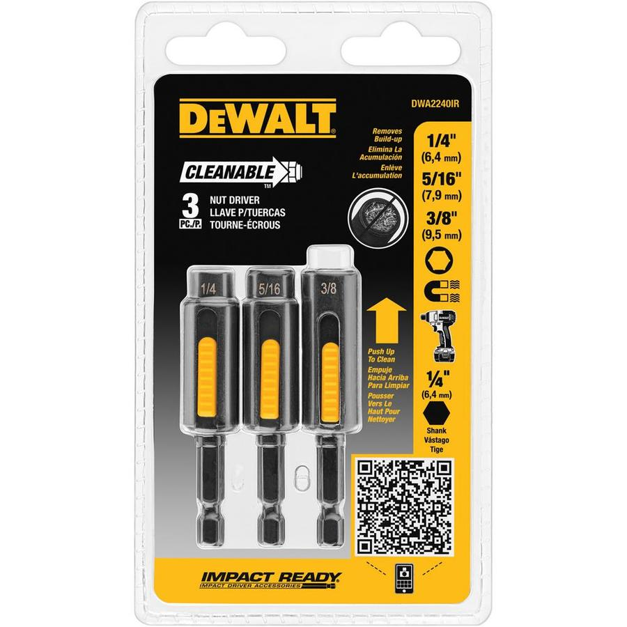 DEWALT 3-Piece Metric and SAE Hex Nut Driver Set