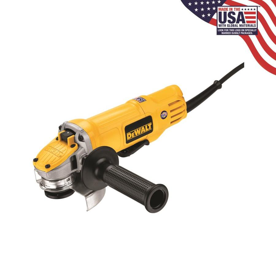 DEWALT 4-1/2-in 9-Amp Paddle Switch Corded Angle Grinder